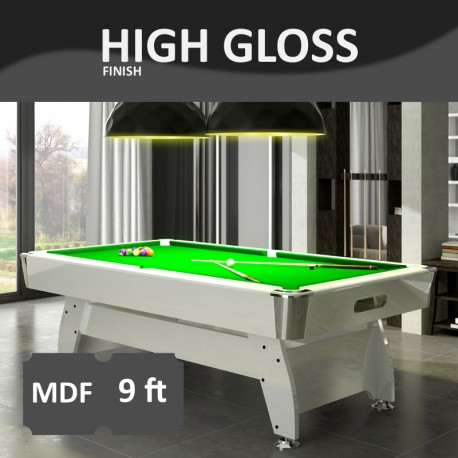 Diamond FT MDF Bed Pool Table High Gloss Radley Pool Tables - 9ft diamond pool table