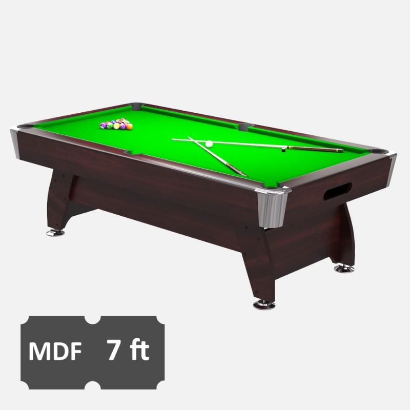 Rack Em Billiard Ball Pool Table Light: Diamond 7FT MDF Bed Pool Table
