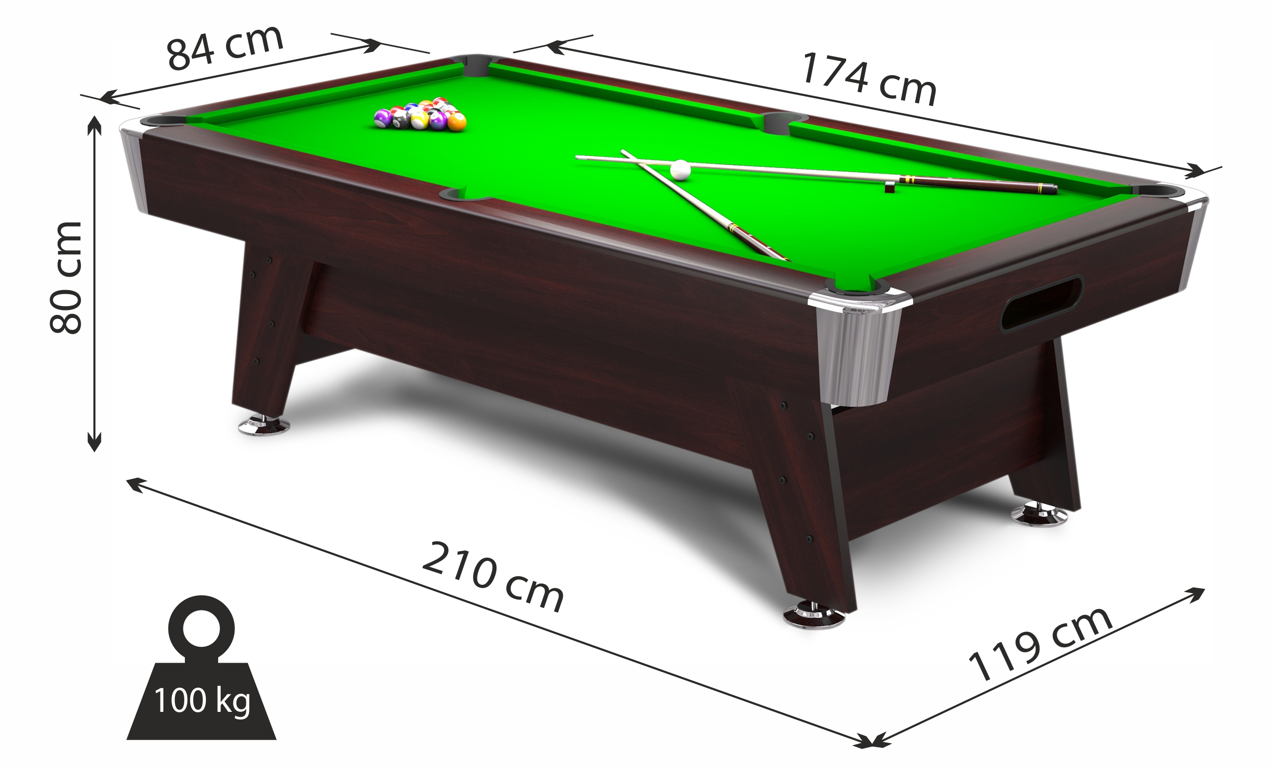 Diamond FT MDF Bed Pool Table Radley Pool Tables - Billiard table and accessories