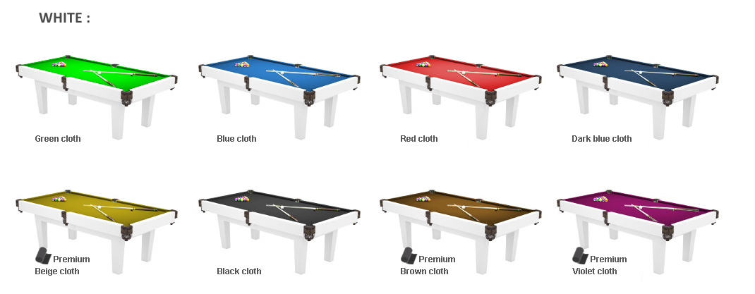 Prime FT MDF Bed Pool Dining Table Radley Pool Tables - White billiard table