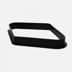 57,2 mm plastic diamond ball rack - black