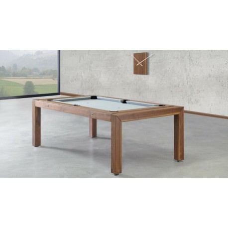 5FT Rollover Pool Table Portland Wood Bed Pool Dining Table Three Wood Finishes