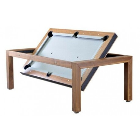 7FT Rollover Pool Table Portland Wood Bed Pool Dining Table Three Wood Finishes