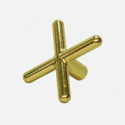 Brass Cue Stick Bridge Head - Cross