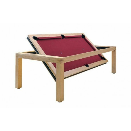 6FT Rollover Pool Table Portland Wood Bed Pool Dining Table Three Wood Finishes