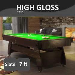 Pool Table Vintage 7FT slate bed laquered