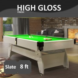 Vintage 8FT Slate Bed Pool Table High Gloss