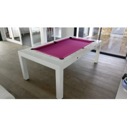 Rollover Pool Table Portland 5FT Wood Bed Pool Dining Table Metal Construction