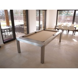 6FT Rollover Pool Table Portland Slate Bed Pool Dining Table Metal Construction