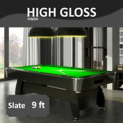 Diamond 9FT Slate Bed Pool Table High Gloss