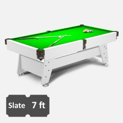 Vintage 7FT Slate Bed Pool Table