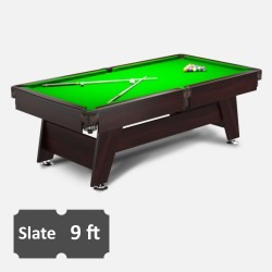 Vintage 9FT Slate Bed Pool Table