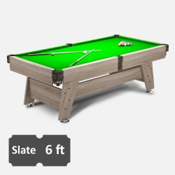 Vintage 6FT Slate Bed Pool Table