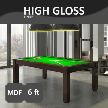 Verso 6FT MDF Bed Pool Dinning Table High Gloss