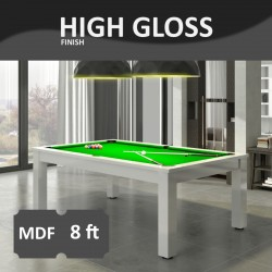 Verso 8FT MDF Bed Pool Dinning Table High Gloss