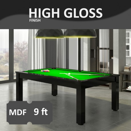 Verso 9FT MDF Bed Pool Dinning Table High Gloss