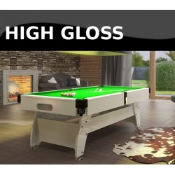 Vintage 9FT MDF Bed Pool Table High Gloss