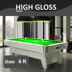 Diamond 6FT Slate Bed Pool Table High Gloss