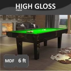 Prime 6FT MDF Bed Pool Dining Table High Gloss